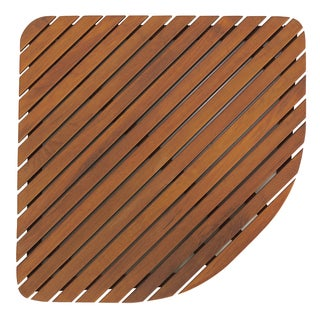 Bare Decor Dania Spa Teak Corner Bath and Shower Mat