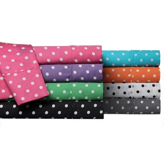 Simple Elegance Wrinkle Resistant Polka Dot Sheet Set