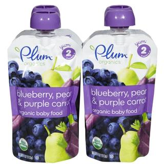 Plum Organics Second Blends 4-ounce Blueberry Pear Purple Carrot (Pack of 4)