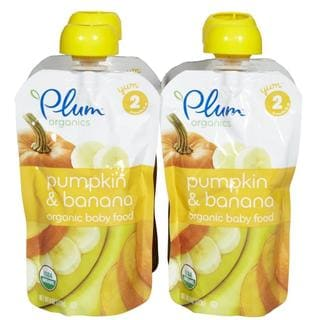 Plum Organics Second Blends 4-ounce Pumpkin Banana (Pack of 4)