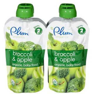 Plum Organics Second Blends 4-ounce Broccoli Apple (Pack of 4)