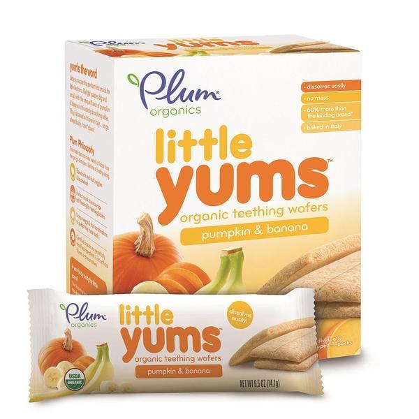 Plum Organics 3-ounce Little Yums Pumpkin Banana (Pack of 6)