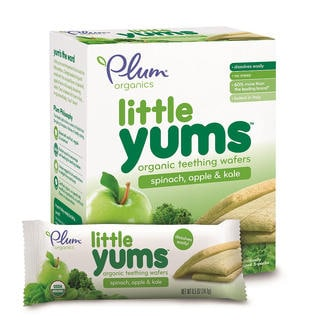 Plum Organics 3-ounce Little Yums Spinach Apple Kale (Pack of 6)