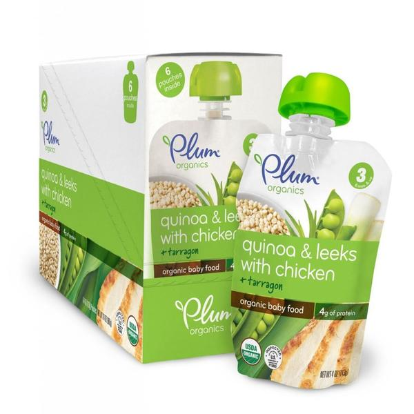 Plum Organics Stage 3 Quinoa & Leeks with Chicken + Tarragon 4-ounce (Pack of 6)