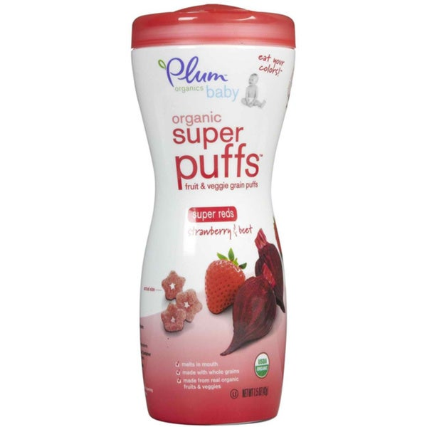 Plum Organics 1.5-ounce Super Puffs Reds Strawberry & Beet