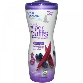 Plum Organics 1.5-ounce Super Puffs Purples Blueberry & Purple Sweet Potato