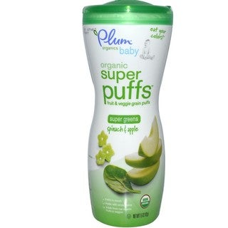 Plum Organics 1.5-ounce Super Puffs Greens Spinach & Apple