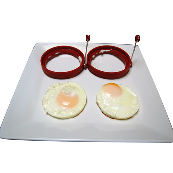 Silicone Egg Maker with Stainless Steel Handle (Set of 2)