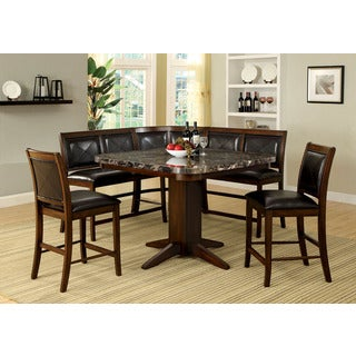 Dalvik 7 Seat Tobacco Oak Counter Height Dining Set