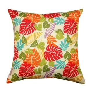 20 x 20-inch Multi-colored Floral Outdoor Throw Pillow (India)