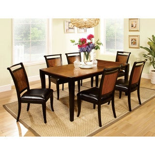 Leuven 7-piece Black Acacia Dining Set