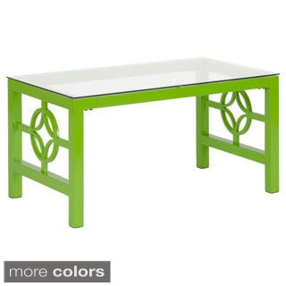 Medallion Metal/ Tempered Glass Coffee Table
