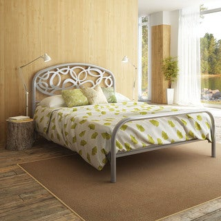 Alba Silver Grey Queen-size Metal Bed