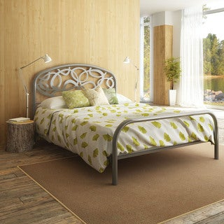 Alba Magnetite Grey Full-size Metal Bed