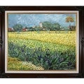 Vincent Van Gogh 'View of Arles with Irises ' Hand Painted Framed Canvas Art