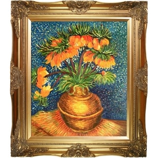 Vincent Van Gogh 'Crown Imperial Fritillaries in a Copper Vase ' Hand Painted Framed Canvas Art
