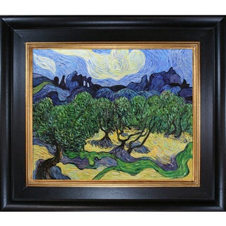 Vincent Van Gogh 'Olive Trees With The Alpilles In The Background ' Hand Painted Framed Canvas Art