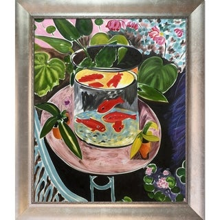 Henri Matisse 'The Gold Fish ' Hand Painted Framed Canvas Art