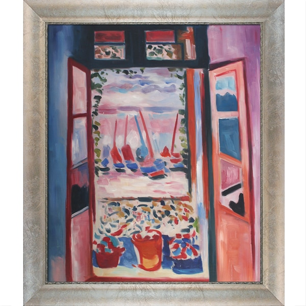 Henri Matisse 'Open Window Collioure ' Hand Painted Framed Canvas Art