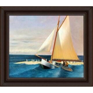 Edward Hopper 'The Martha McKean of Wellfleet ' Hand Painted Framed Canvas Art