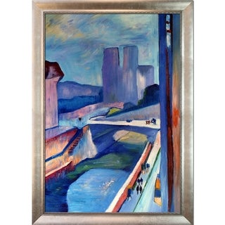 Henri Matisse 'Glimpse of Notre Dame ' Hand Painted Framed Canvas Art