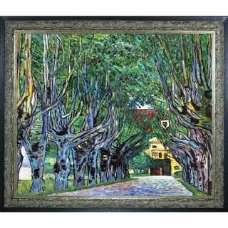 Gustav Klimt 'Avenue in Schloss Kammer Park ' Hand Painted Framed Canvas Art