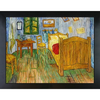 Vincent Van Gogh 'Vincent's Bedroom at Arles ' Hand Painted Framed Canvas Art
