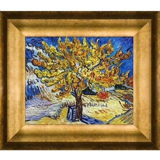 Vincent Van Gogh 'The Mulberry Tree ' Hand Painted Framed Canvas Art