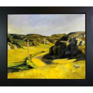 Edward Hopper 'Road in Maine ' Hand Painted Framed Canvas Art