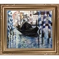 Edouard Manet 'The Grand Canal, Venice II ' Hand Painted Framed Canvas Art