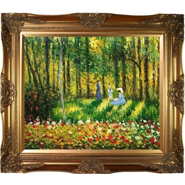 Claude Monet 'La Famille D'artiste ' Hand Painted Framed Canvas Art