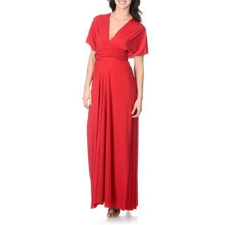 Von Vonni Women's Solid Red Convertible Gown (One size)