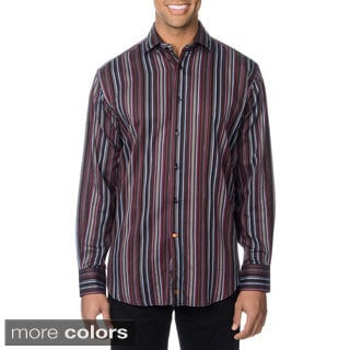 Thomas Dean Men's Multicolor Striped Button-down Shirt