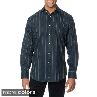 Thomas Dean Men's Striped Button-down Shirt