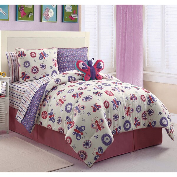 Butterfly Garden 9-piece Bed in a Bag with Sheet Set