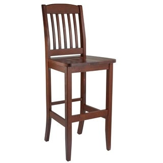 College Solid Beech Wood Bar Stool