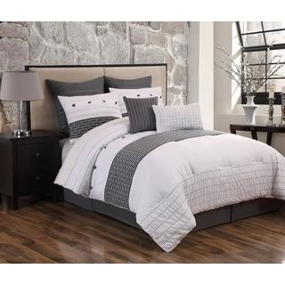 Maiden Black/White 8-piece Comforter Set