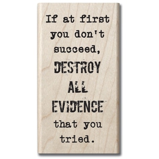"7gypsies Mounted Rubber Stamp 2""X4""-Destroy All Evidence"