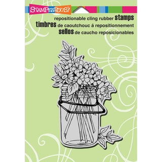 "Stampendous Cling Rubber Stamp 5.5""X4.5"" Sheet-Jar Bouquet"