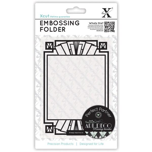 Xcut Universal A6 Embossing Folder-Fan Frame