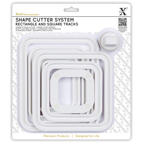 Xcut Shape Cutter System/Cutter Carriage 7pcs-Square & Rectangle Tracks