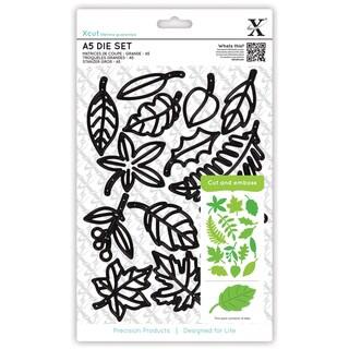 Xcut A5 Die Set 14/Pkg-Leaves
