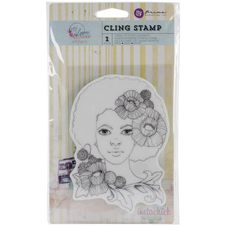 """Bloom Cling Rubber Stamps 4""""X6""""-Girl Joy"""