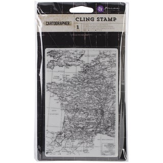 """Cartographer Cling Stamps 4""""X6""""-Map"""