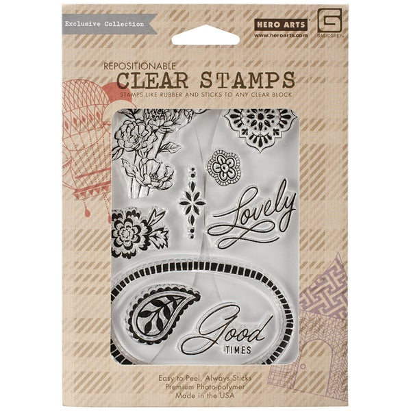 Basic Grey Spice Market Clear Stamps By Hero Arts-Lovely