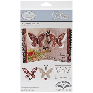 Elizabeth Craft Pop It Up Metal Dies By Karen Burniston-Butterfly Pivot Card