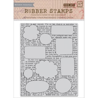 Basic Grey Capture Cling Stamps By Hero Arts-Talk Bubbles Background