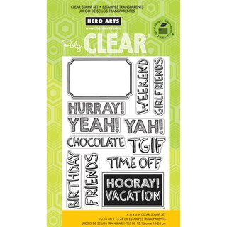 """Hero Arts Clear Stamps 4""""X6"""" Sheet -Hurray!"""