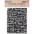 Basic Grey Highline Cling Stamps By Hero Arts-Chalkboard Background
