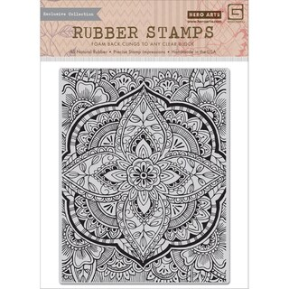 Basic Grey Spice Market Cling Stamps By Hero Arts-Large Petal Background